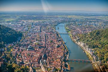 Heidelberg Luftaufnahme
