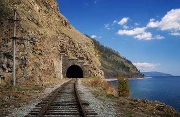 Spring on the Circum-Baikal railroad