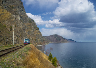 Spring on the Circum-Baikal Road to the south of Lake Baikal