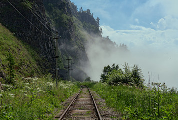 Fog in the Circum-Baikal Railway
