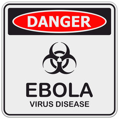 Danger ebola sign
