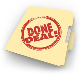 Done Deal Manila Folder Official Contract Signed Sale Closed