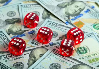 Dices Casino background dollar