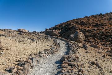 Roads of volcano Teide. Tenerife