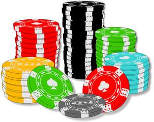 Poker chips - Casino chips - Casino poker