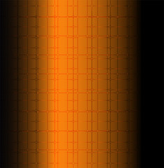 Orange technology grid background Vector