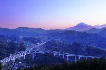 新清水ジャンクションと富士山