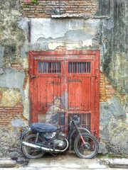 Motercycle - wall painting in Penang