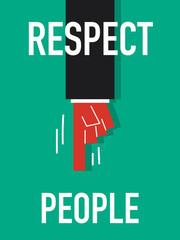 Word RESPECT YOURSELF vector illustration