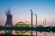 coal power plant in nightfall - 72802213