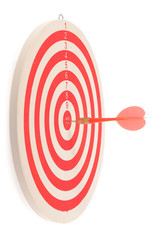 Dart target with arrows