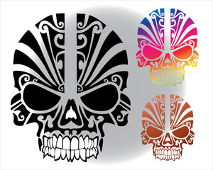 Skull set for tattoo