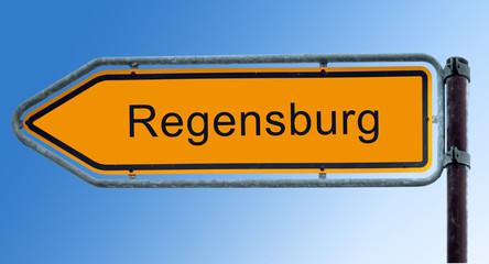 Strassenschild 7 - Regensburg