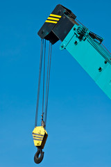 Crane Hook with blue sky