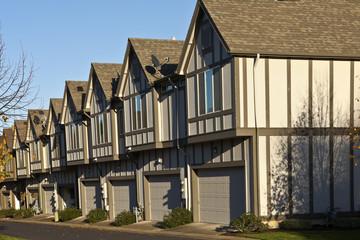 Row of new homes in Willsonville Oregon.