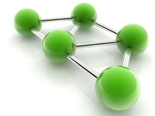 green spheres