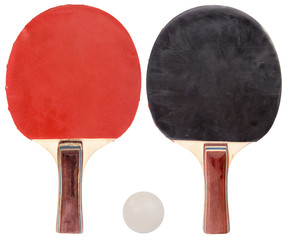 ping pong set isolated