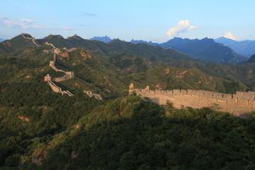 Sonnenaufgang an der Chinesischen Mauer in Jinshanling