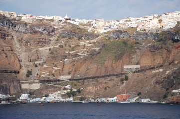 Santorini from sea
