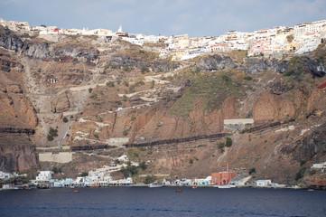 Santorini from sea