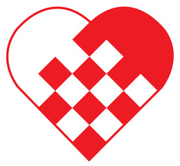 vector heart stripes