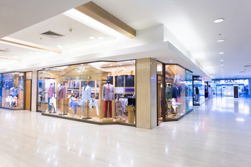 modern clothes retail shop in shopping mall