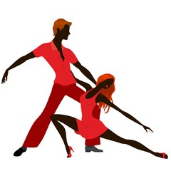 gorgeous dancers silhouettes