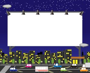 風景 夜 街 看板