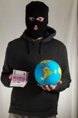 Man Holding a Globe Earth