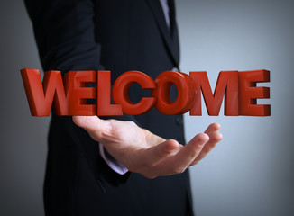 welcome businessman
