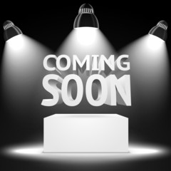 Stage, spot light projectors lightning the podium -Coming Soon-
