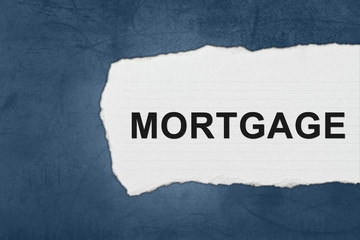 mortgage with white paper tears
