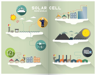 solar cell graphic