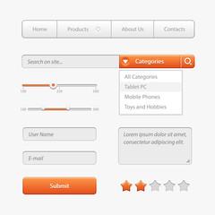 Orange Light User Interface Controls