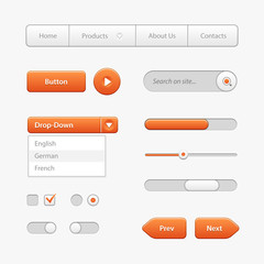 Orange Light User Interface Controls