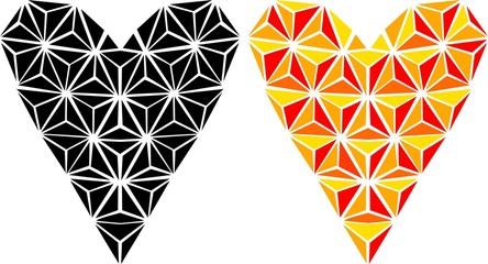 Graphic heart-design element