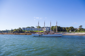 Four Masted Clipper by Bar Harbor Hotel