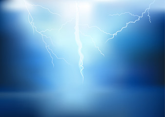 thunder lighting background vector