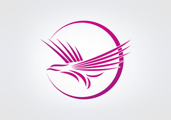 Bird Logo Beuty Air busines. Fly icon symbol brand