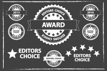 Editors Choice Badges Set On Blackboard