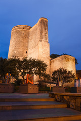 Maiden Tower in the evening