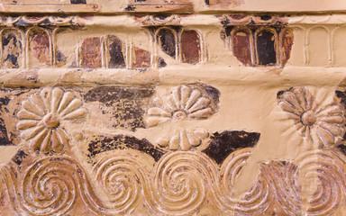 Ornament in Delphi museum, Greece