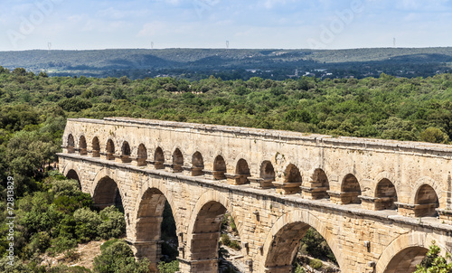 canvas print picture Pont du Gard - France