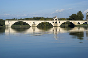 The Pont d'Avignon on the Petit Rhone