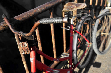 Rusty red bicycle