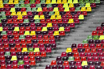 Stadium empty tribune