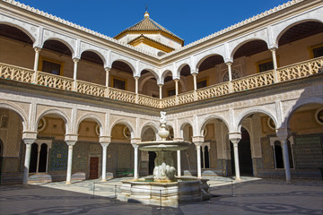 Seville - The Courtyard of Casa de Pilatos.
