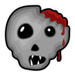 Damage Head Halloween Skull