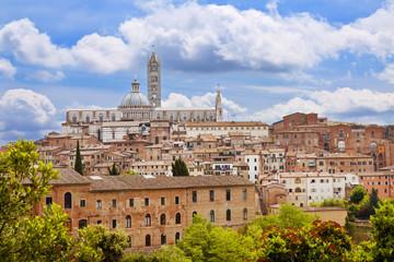 View on Siena, Tuscany, Italy