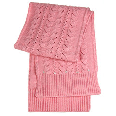 Pink female scarf isolated on white